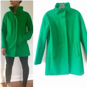 J. Crew Green Wool City Coat